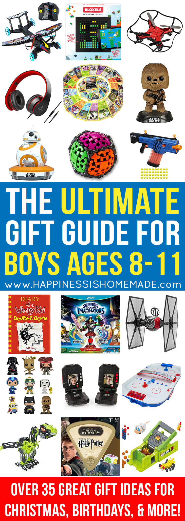 Best ideas about Gift Ideas For Boys Age 9 . Save or Pin The Best Gift Ideas for Boys Ages 8 11 Happiness is Homemade Now.