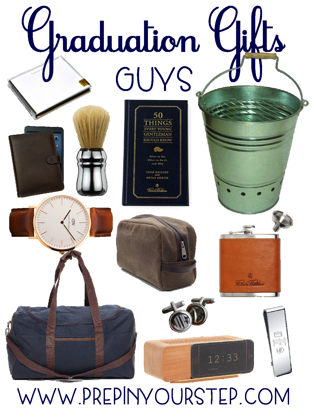 Best ideas about Gift Ideas For College Boys . Save or Pin Graduation Gift Ideas Guys & Girls Prep In Your Step Now.