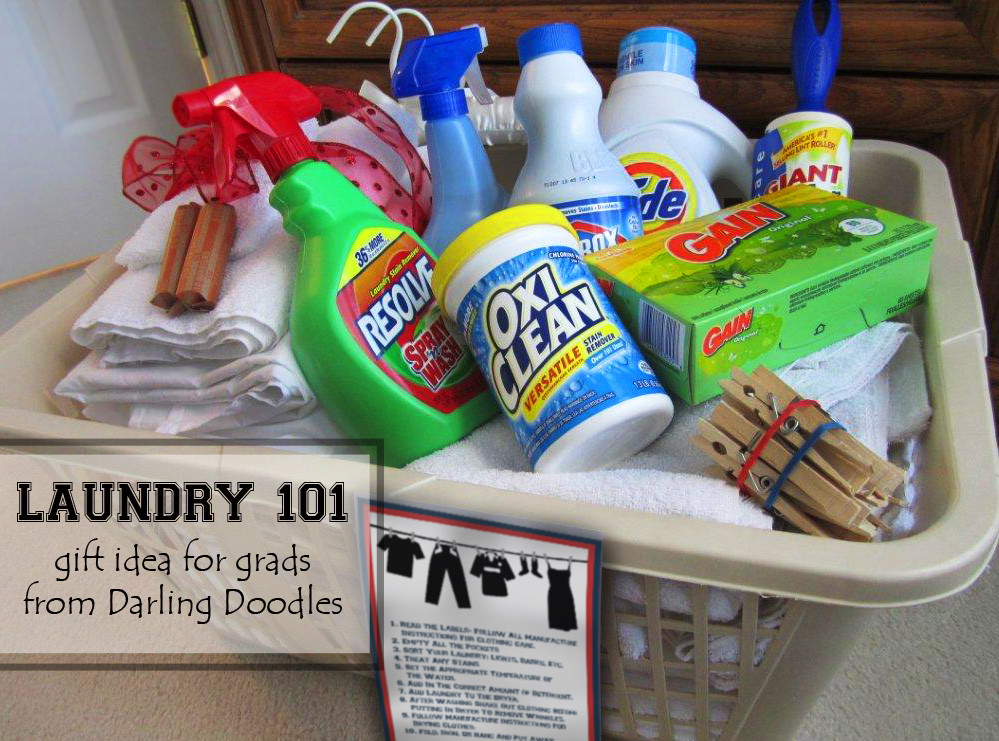 Best ideas about Gift Ideas For College Students . Save or Pin Laundry 101 Darling Doodles Now.