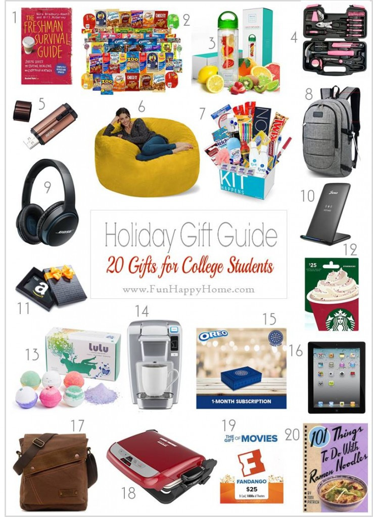 Best ideas about Gift Ideas For College Students . Save or Pin These Gift Ideas for College Students are Practical Now.