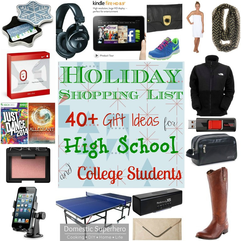 Best ideas about Gift Ideas For College Students . Save or Pin Holiday Shopping List 40 Gift Ideas for High School and Now.