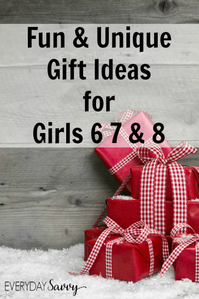 Best ideas about Gift Ideas For Girls Age 8 . Save or Pin Fun & Unique Gift Ideas Girls Ages 6 7 8 Now.