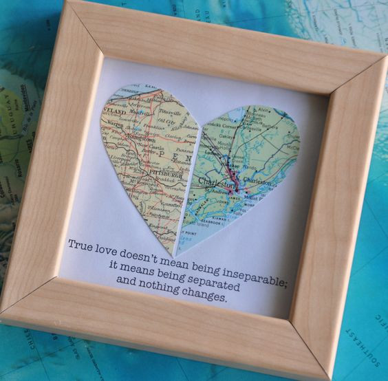 Best ideas about Gift Ideas For Long Distance Boyfriend . Save or Pin Gift for Boyfriend Long Distance Map Heart with Custom Now.