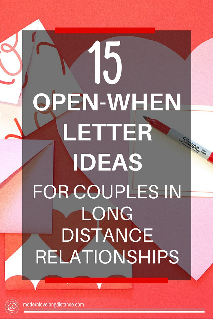 Best ideas about Gift Ideas For Long Distance Girlfriend . Save or Pin DIY Long Distance Gifts Open When Letters Now.