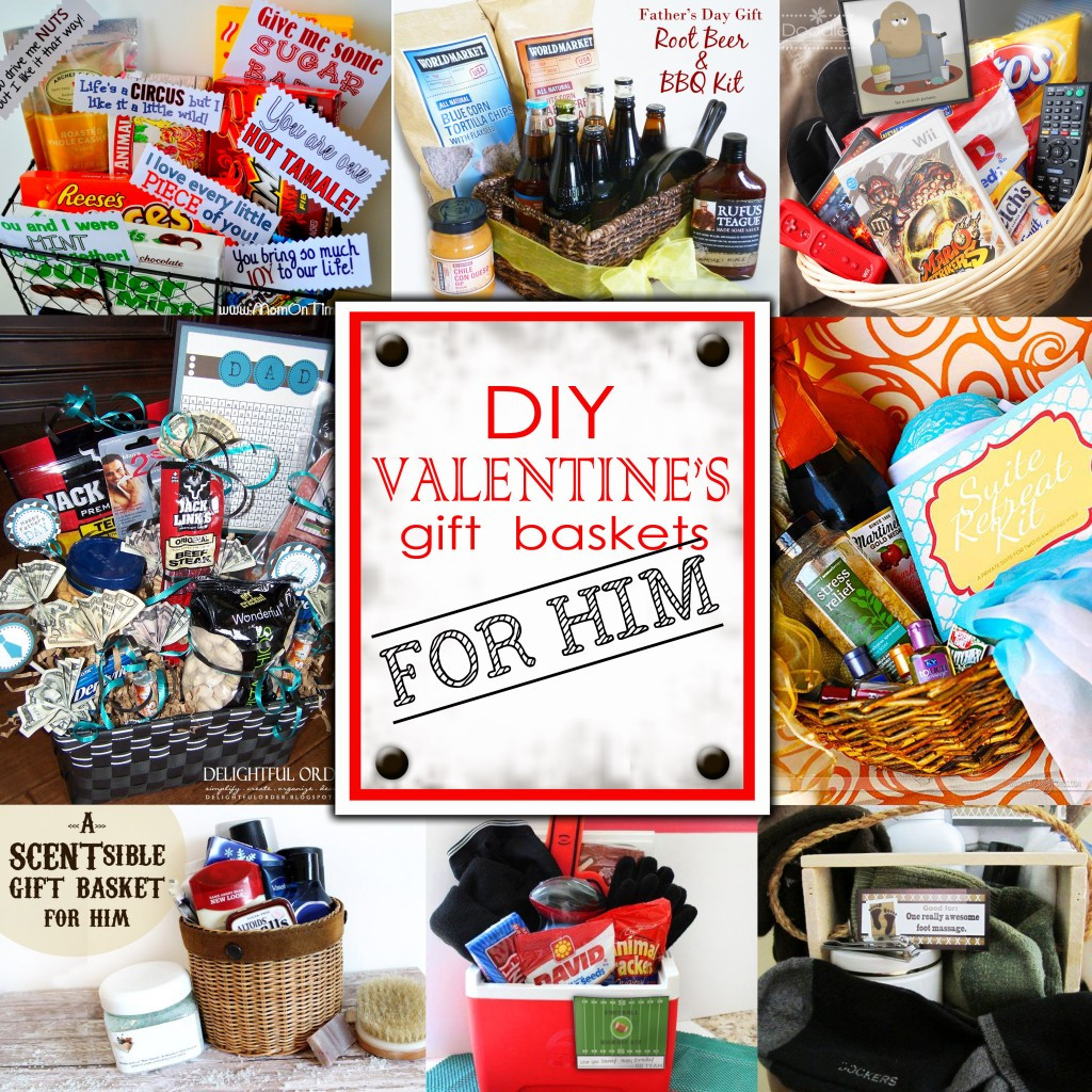 Best ideas about Gift Ideas For Men For Valentines Day . Save or Pin DIY Valentine s Day Gift Baskets For Him Darling Doodles Now.