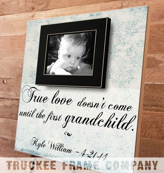 Best ideas about Gift Ideas For New Grandbaby . Save or Pin Grandparents Gifts Personalized Picture Frame New Now.