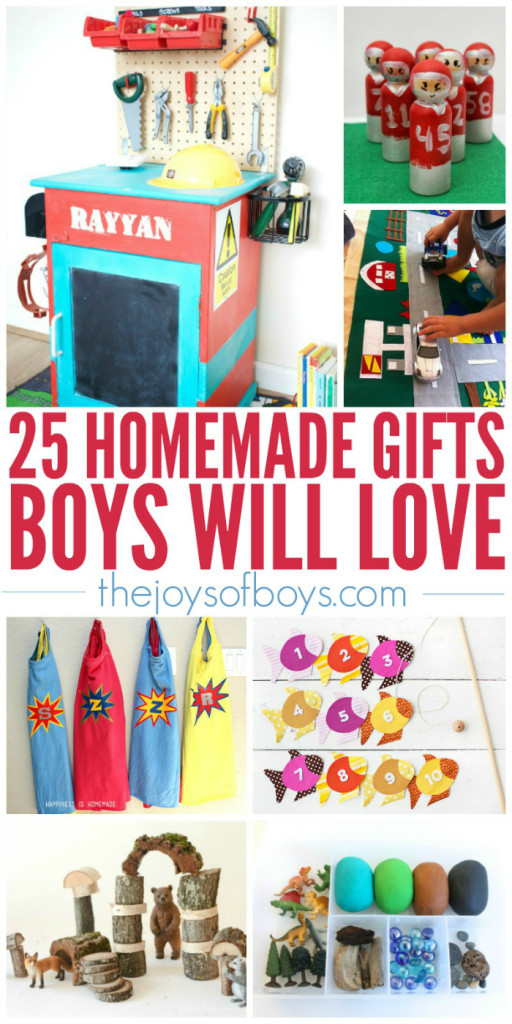 Best ideas about Gift Ideas For Toddler Boys . Save or Pin 25 Homemade Gifts Boys Will Love Now.