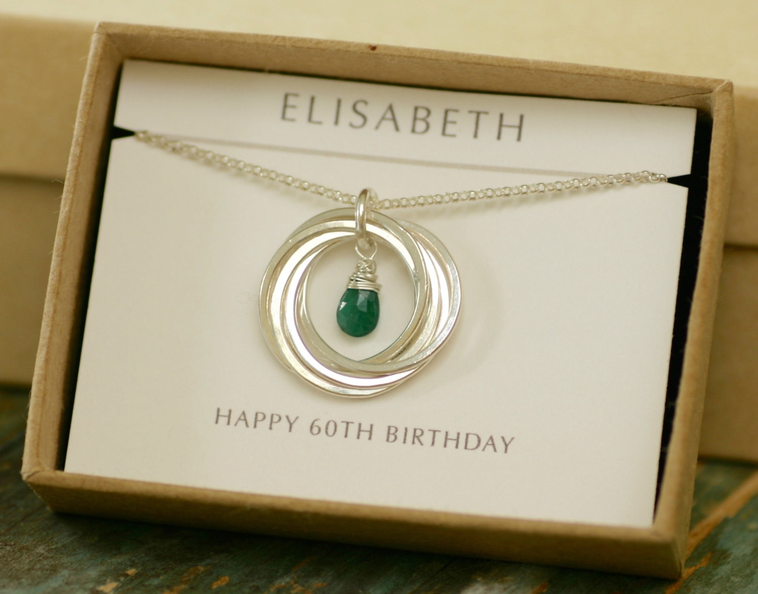 Best ideas about Gift Ideas For Womans 60th Birthday . Save or Pin 60th birthday t for mum t for women emerald necklace Now.