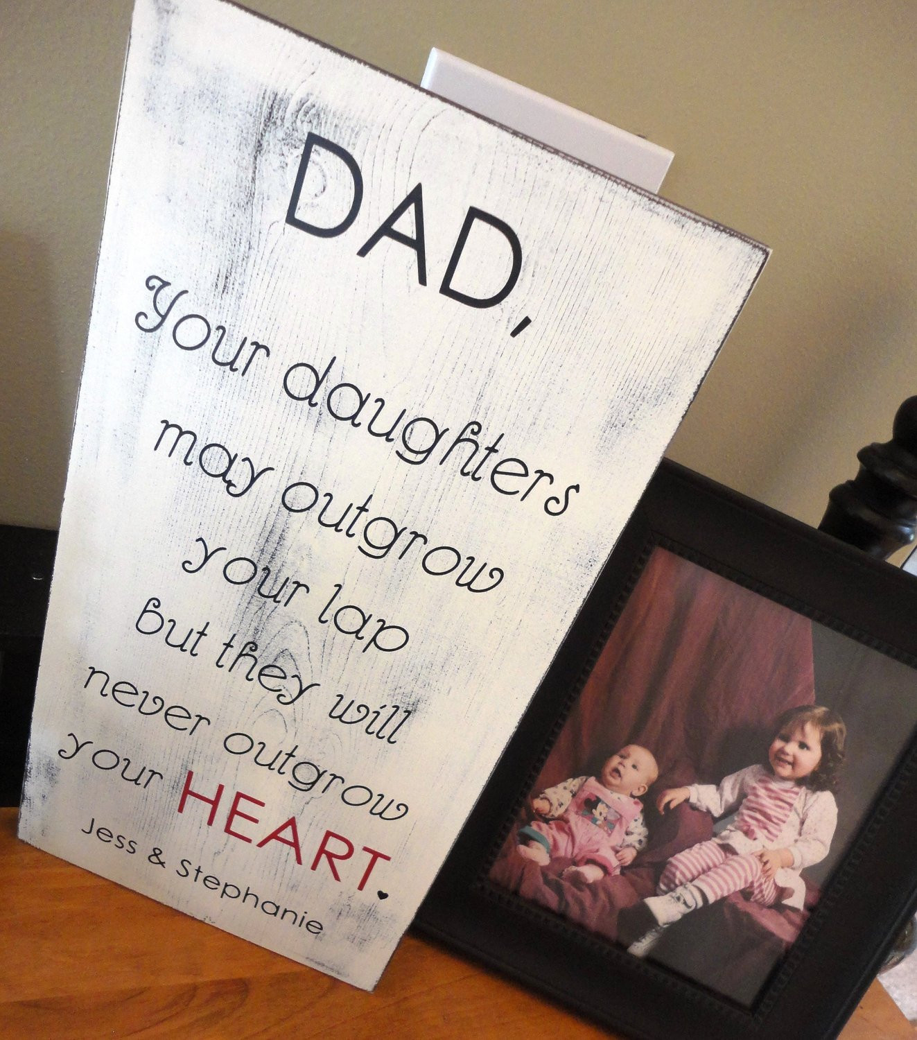Best ideas about Gifts For Dad Birthday . Save or Pin Rustic Father s Day Sign Birthday Sign I Love You Sign Now.
