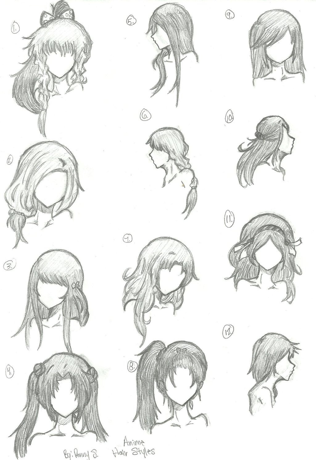Best ideas about Girl Anime Hairstyles . Save or Pin Hair Styles 1 12 by animebleach14 on DeviantArt Now.