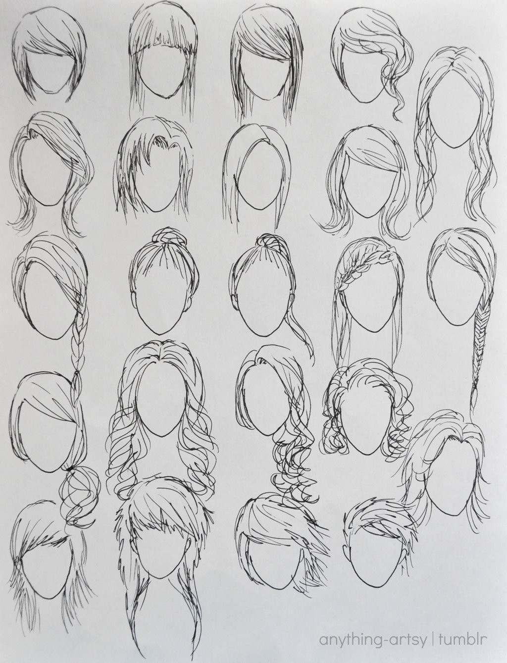 Best ideas about Girl Anime Hairstyles . Save or Pin Hairstyles for Girls by AnhPho on DeviantArt Now.