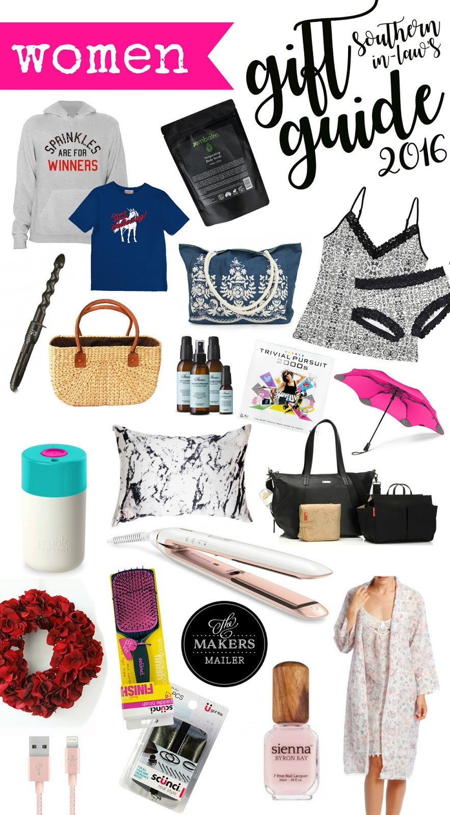 Best ideas about Girlfriend Gift Ideas Christmas . Save or Pin Southern In Law 2016 Women s Christmas Gift Guide Now.