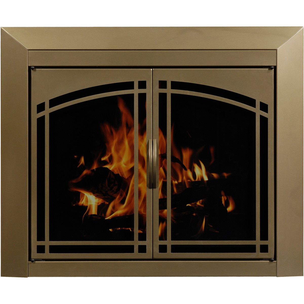 Best ideas about Glass Doors For Fireplace . Save or Pin Arched Plate Masonry Fireplace Glass Doors Manassa Doors Now.