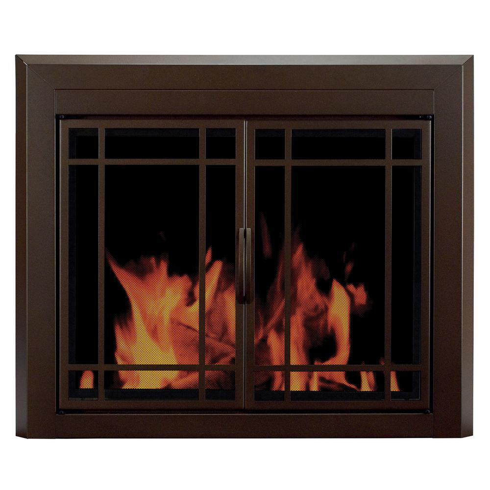 Best ideas about Glass Doors For Fireplace . Save or Pin Pleasant Hearth Enfield Small Glass Fireplace Doors EN Now.
