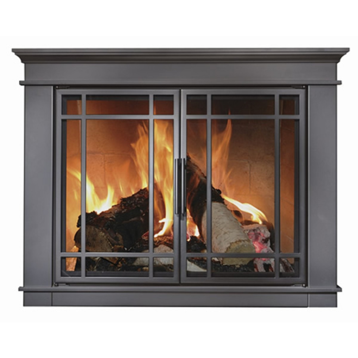 Best ideas about Glass Doors For Fireplace . Save or Pin Matheson Masonry Fireplace Doors with Steel welded frame Now.
