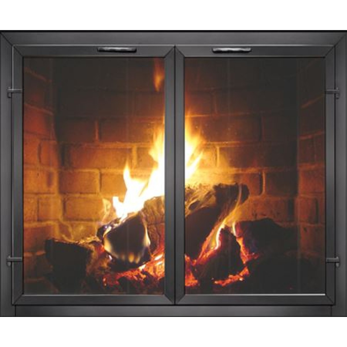 Best ideas about Glass Doors For Fireplace . Save or Pin Contemporary Georgian Masonry Fireplace Glass Doors Now.