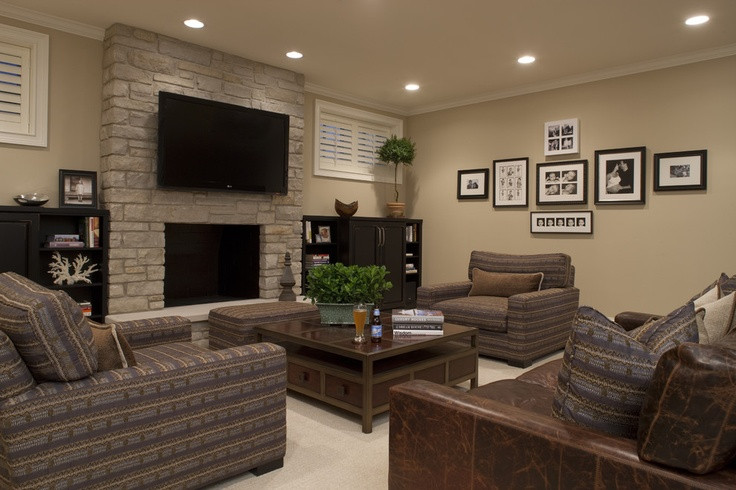 Best ideas about Great Basement Ideas . Save or Pin Great basement color scheme to lighten it up Shaker beige Now.