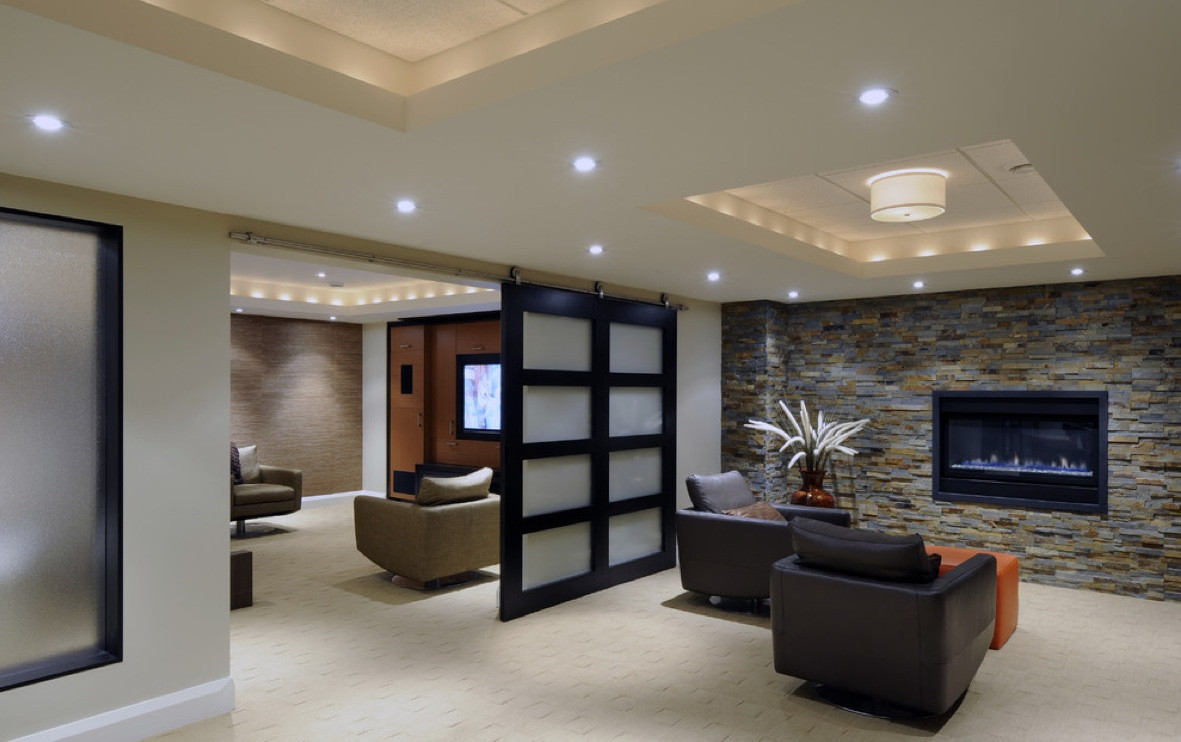 Best ideas about Great Basement Ideas . Save or Pin Great Lighting At Basement Ideas Home Decorating DIY Now.