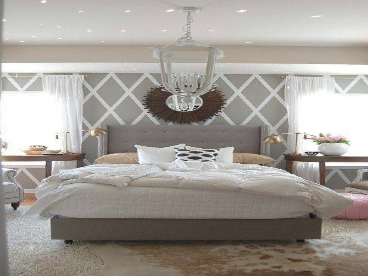 Best ideas about Grey Accent Wall Bedroom . Save or Pin Wall patterns for bedrooms grey white and blue bedroom Now.