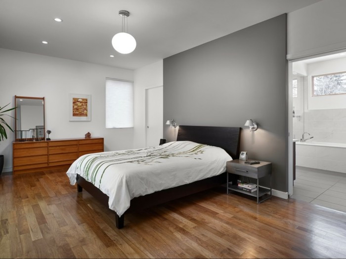 Best ideas about Grey Accent Wall Bedroom . Save or Pin Bedroom In Gray – 88 Bedrooms With Significant Presence Now.