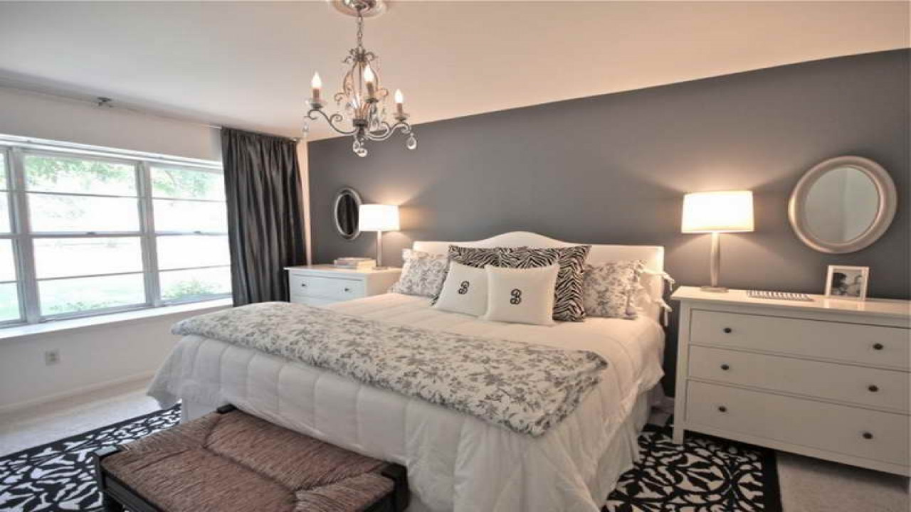Best ideas about Grey Accent Wall Bedroom . Save or Pin Best paint color for dining room gray bedroom walls grey Now.