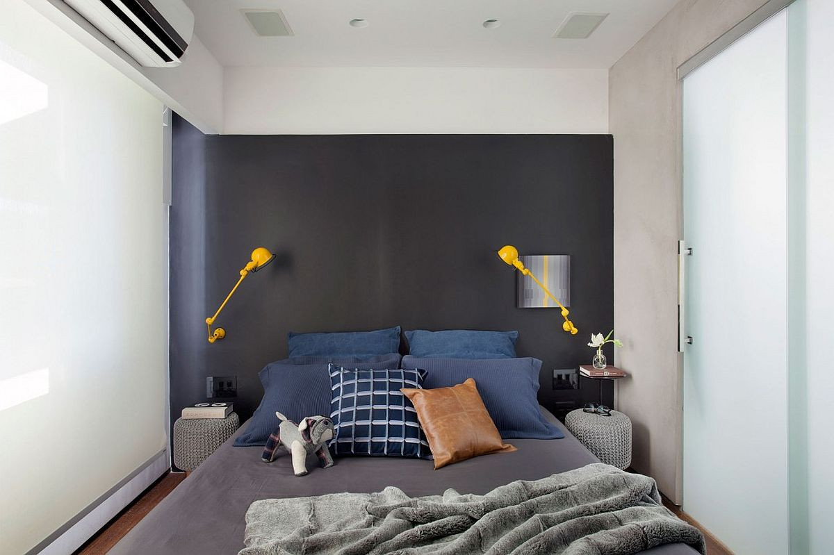 Best ideas about Grey Accent Wall Bedroom . Save or Pin Small and Refined Contemporary Apartment in Rio de Janeiro Now.