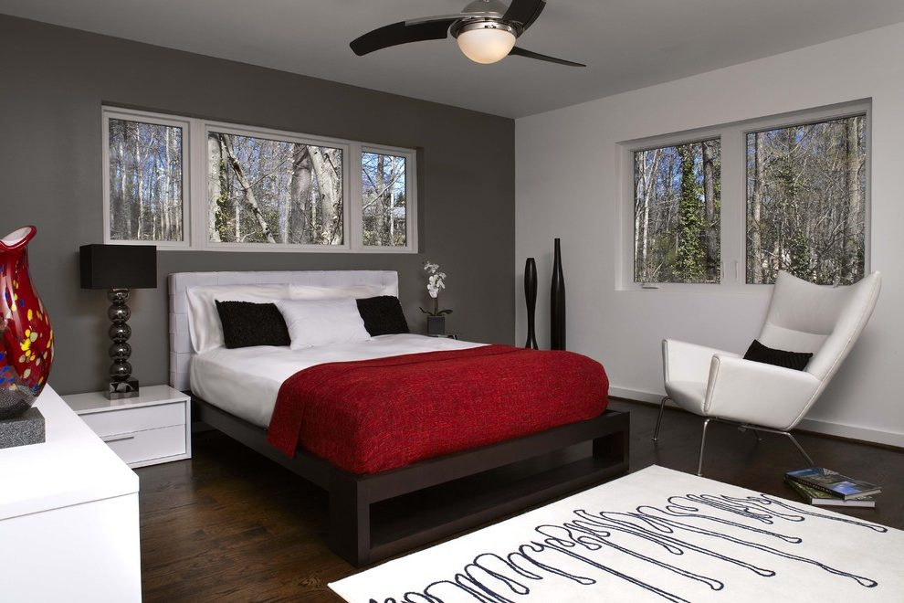 Best ideas about Grey Accent Wall Bedroom . Save or Pin grey accent wall bedroom contemporary with high gloss Now.