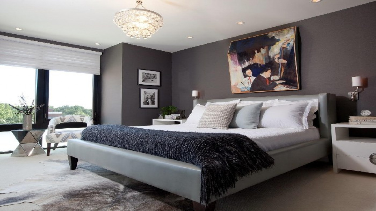 Best ideas about Grey Accent Wall Bedroom . Save or Pin Laundry designs ideas grey with accent walls bedrooms Now.