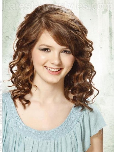 Best ideas about Hairstyle For Curly Hair Girl . Save or Pin Curly hairstyles with fringe Now.