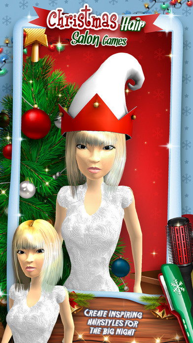 Best ideas about Hairstyle Salon Games For Girls . Save or Pin App Shopper Christmas Hair Salon Games Girls Hairstyle Now.