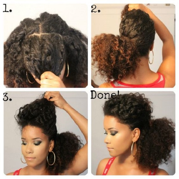 Best ideas about Hairstyles For Medium Length Natural Hair . Save or Pin 8 Quick & Easy Hairstyles on Medium Short Natural Hair Now.