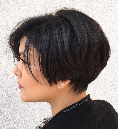 Best ideas about Hairstyles For Short Thick Hair . Save or Pin 50 Classy Short Hairstyles for Thick Hair Now.
