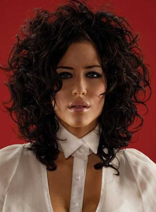 Best ideas about Hairstyles For Thick Curly Hair . Save or Pin 35 Medium Length Curly Hair Styles Now.