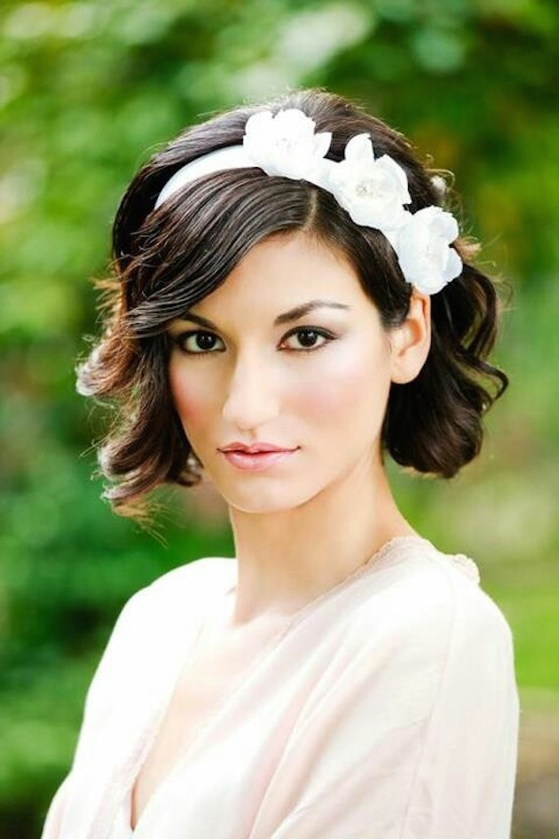 Best ideas about Hairstyles For Wedding Short Hair . Save or Pin 11 Awesome And Cute Wedding Hairstyles For Short Hair Now.