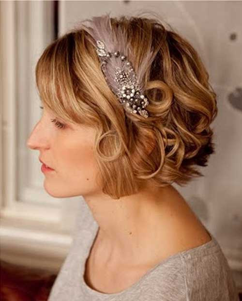 Best ideas about Hairstyles For Wedding Short Hair . Save or Pin 30 Wedding Hair Styles for Short Hair Now.