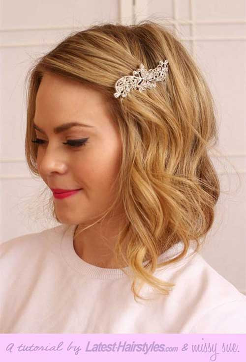 Best ideas about Hairstyles For Wedding Short Hair . Save or Pin 20 New Wedding Styles for Short Hair Now.