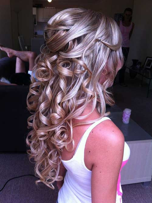 Best ideas about Half Up Half Down Curly Prom Hairstyles . Save or Pin 20 Prom Hairstyle Ideas Now.