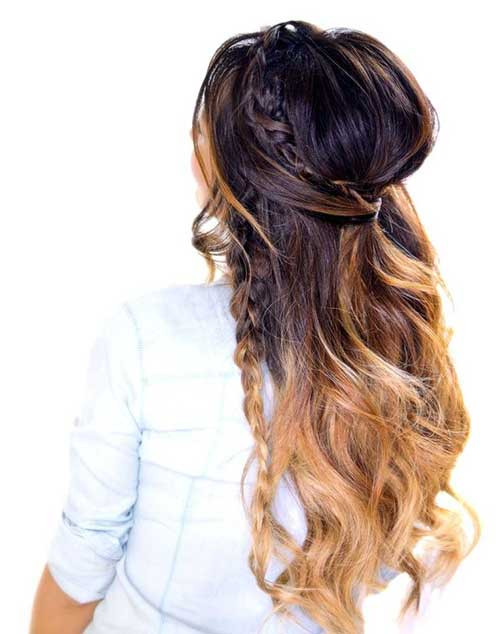 Best ideas about Half Up Half Down Curly Prom Hairstyles . Save or Pin 30 Best Half Up Curly Hairstyles Now.