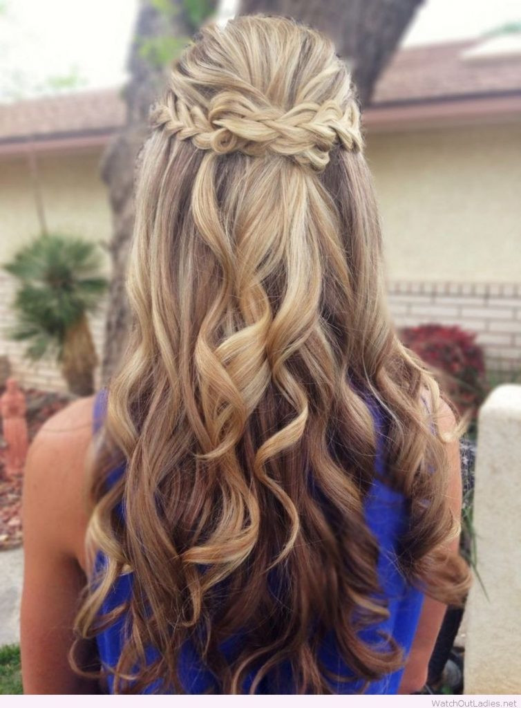 Best ideas about Half Up Half Down Curly Prom Hairstyles . Save or Pin Pretty Long Hair Half Updos With Curls – Watch out La s Now.