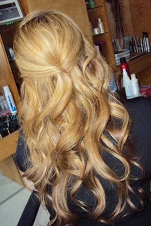 Best ideas about Half Up Half Down Curly Prom Hairstyles . Save or Pin 20 Half Up Half Down Curly Hairstyles Now.