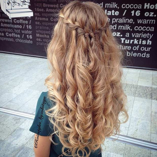 Best ideas about Half Up Half Down Curly Prom Hairstyles . Save or Pin 31 Half Up Half Down Prom Hairstyles – StayGlam Now.