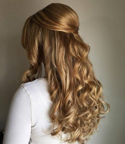 Best ideas about Half Up Half Down Curly Prom Hairstyles . Save or Pin 50 Half Up Half Down Hairstyles for Everyday and Party Looks Now.