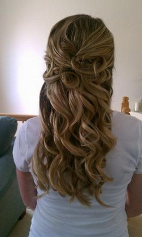 Best ideas about Half Up Half Down Curly Prom Hairstyles . Save or Pin Prom hairstyles curly half up Now.