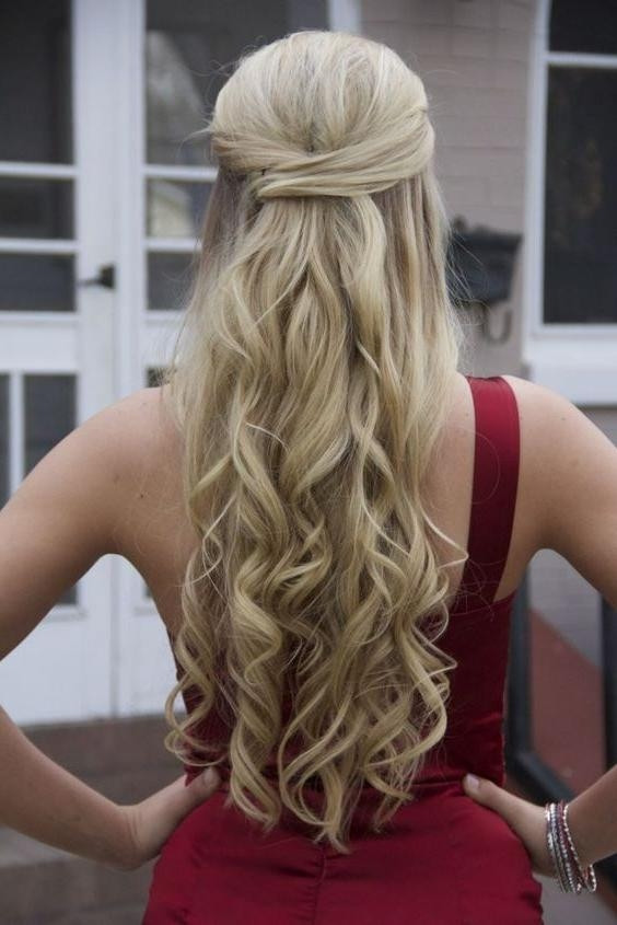 Best ideas about Half Up Half Down Curly Prom Hairstyles . Save or Pin Gallery of Long Hairstyles Prom Viewing 12 of 15 Now.
