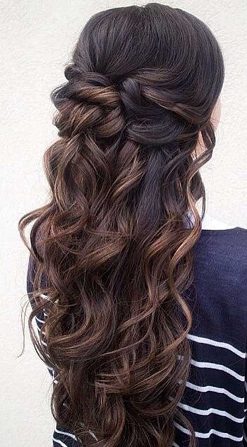 Best ideas about Half Up Half Down Curly Prom Hairstyles . Save or Pin 15 Half Up and Half Down Hairstyles Now.