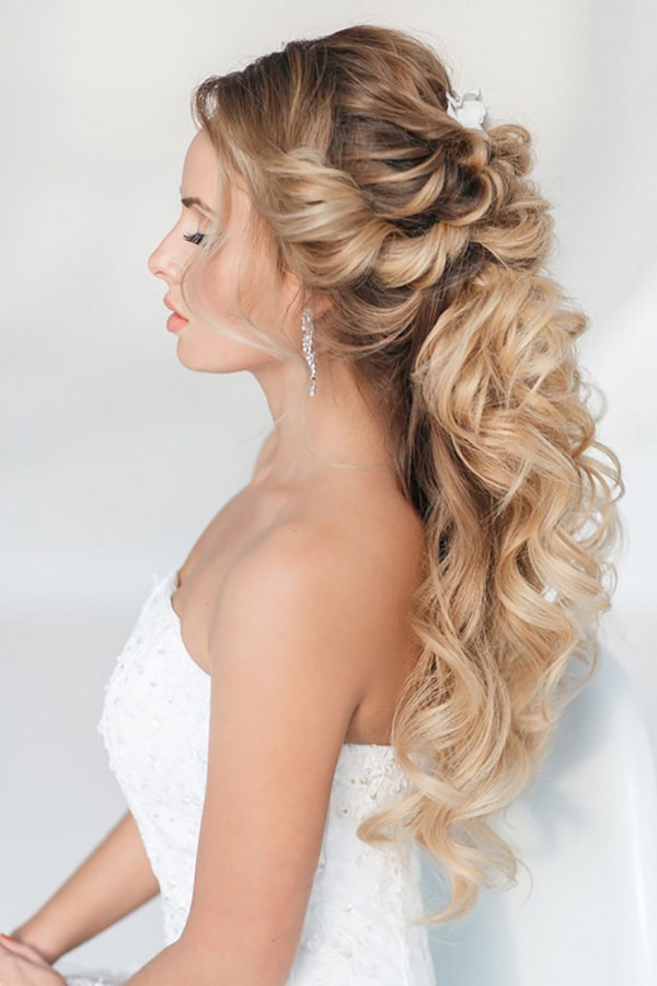 Best ideas about Half Up Half Down Hairstyles For Wedding . Save or Pin 40 Stunning Half Up Half Down Wedding Hairstyles with Now.