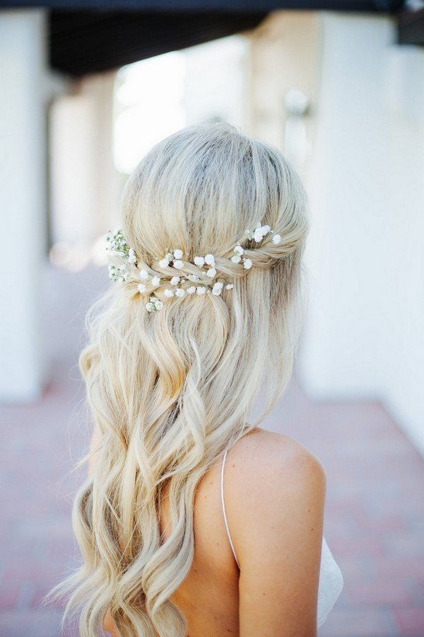 Best ideas about Half Up Half Down Hairstyles For Wedding . Save or Pin Wedding Hairstyles Archives Oh Best Day Ever Now.