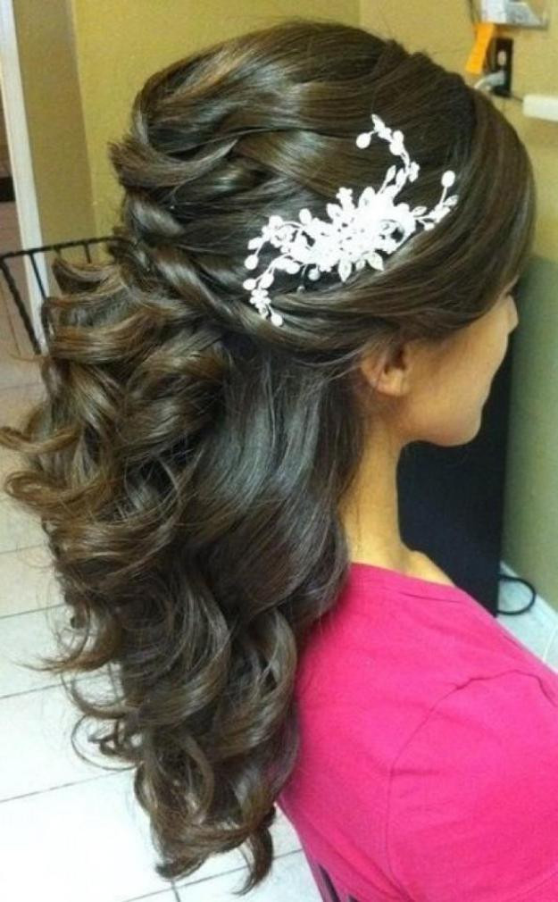 Best ideas about Half Up Half Down Hairstyles For Wedding . Save or Pin Half Up and Half Down Bridal Hairstyles Women Hairstyles Now.