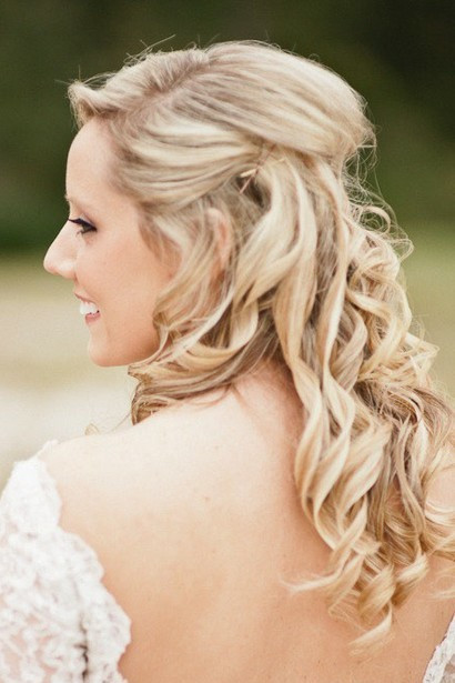 Best ideas about Half Up Half Down Hairstyles For Wedding . Save or Pin The Half Up Half Down Wedding Hairstyles Now.