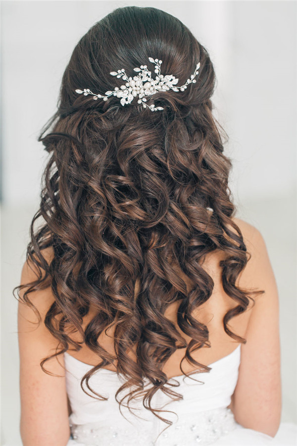 Best ideas about Half Up Half Down Hairstyles For Wedding . Save or Pin Top 20 Down Wedding Hairstyles for Long Hair Now.